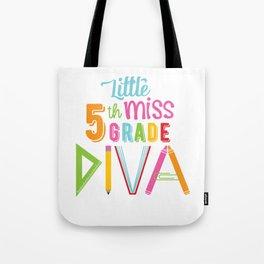 Little Miss 5th Grade Diva Tote Bag