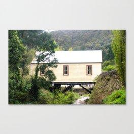Wallhala Fire Station built over a Stringer's Creek Canvas Print
