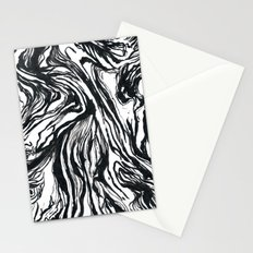 Marbled Black Stationery Cards