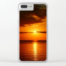 A  Beautiful Day´s End Clear iPhone Case