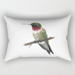 Ruby Throated Hummingbird Rectangular Pillow