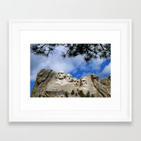 rushmore Framed Art Prints featuring Mount Rushmore by Christiane W. Schulze Art and Photograph