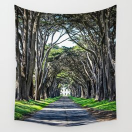 Cypress Tree Tunnel Wall Tapestry