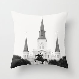 Heart and Soul of New Orleans Throw Pillow