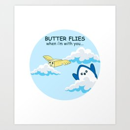 Butter Flies Gift Art Print