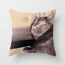 leave me alone:) Throw Pillow