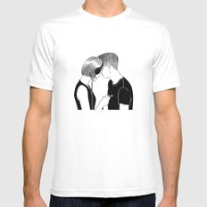 Love Song White SMALL Mens Fitted Tee