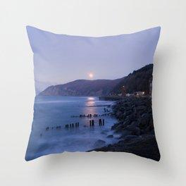 Lynmouth Moonrise Throw Pillow