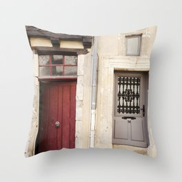 Two Doors in France Throw Pillow