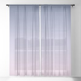 Blue Lilac Millennial Pink Ombre Gradient Pattern Sheer Curtain