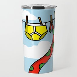 Underpants On The Line, With A Tie Travel Mug