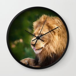 King Of The Jungle (digital Painting) Wall Clock