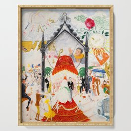 The Cathedrals of Fifth Avenue by Florine Stettheimer, 1931 Serving Tray