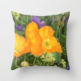 Botanical Florals zencolor3 Throw Pillow