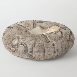 Letters and Leaf Floor Pillow