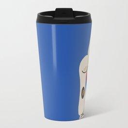 Blue Lucky Cat Travel Mug