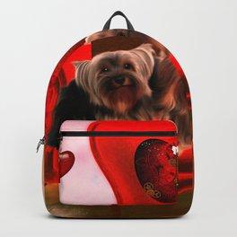 Cute little Yorkshire Terrier Backpack