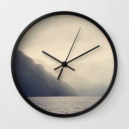 Foggy Fjord, North Sea Wall Clock