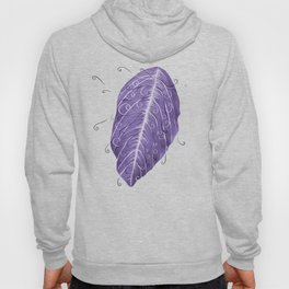 Violet Swirly Leaf Hoody