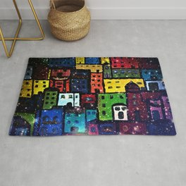 Snowing in the City Rug