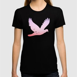 birds in the sky rose T-shirt
