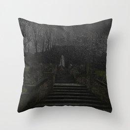 Rochdale St chad's parish church (Gothic) Throw Pillow