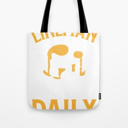 Football Lineman, Serving Pancakes Daily Tote Bag