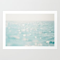 Sparkles at sea Art Print