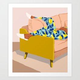 Casual Sunday #illustration #painting Art Print