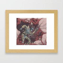 Boba Fett in the Belly of the Sarlacc Framed Art Print
