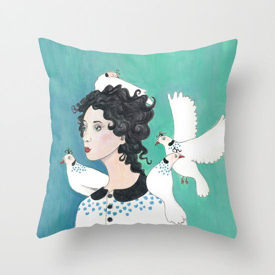 Feathered Friends. Throw Pillow