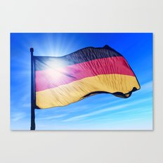 Germany flag waving on the wind Canvas Print