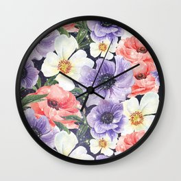 Cosmic Flowers VI Wall Clock