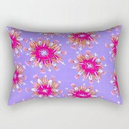 Pink Christie Rose Rectangular Pillow