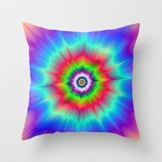 Explosive Tie-Dye Throw Pillow