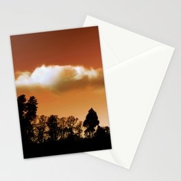 Silhouetted trees Stationery Cards