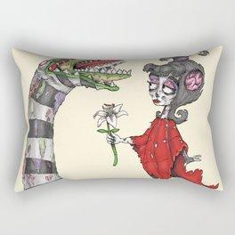 Lydia and the Sandworm Rectangular Pillow