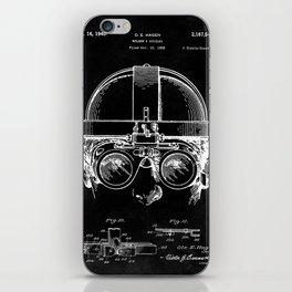 Welding Goggles Blueprint iPhone Skin