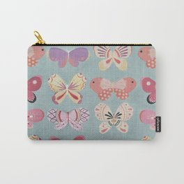 Butterfly Pattern Carry-All Pouch