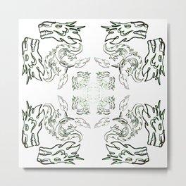 die liebe zu den Drachen - der Drachenschutz the love of the dragon the dragon protection (A7 B0037) Metal Print