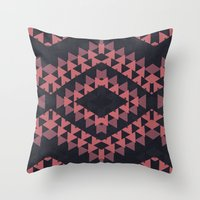 navajo Throw Pillows featuring navajo n3 by spinL