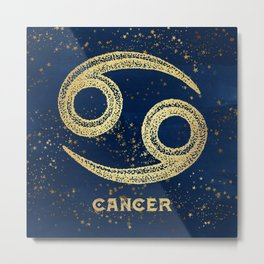 Cancer Zodiac Sign Metal Print