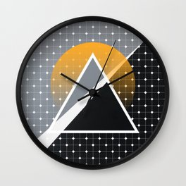 London - Abstract Sunset Wall Clock