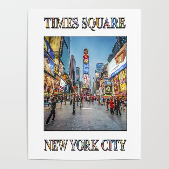 Times Square Sparkle (with typography) Poster