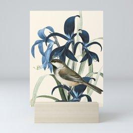 Little Bird and Flowers II Mini Art Print