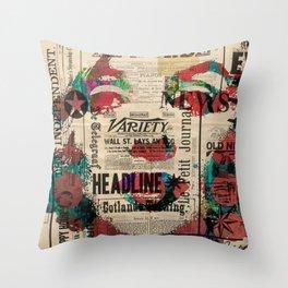 sepia Mrs. Monroe Hollywood POP ART CELEBRITY Throw Pillow