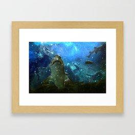 The Great White Marine Lava Lamp Framed Art Print