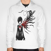 tokyo ghoul Hoodies featuring tokyo ghoul  Touka by Lee Chao Charlie Vang
