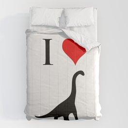 I Love Dinosaurs - Brachiosaurus Comforters