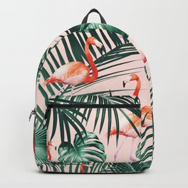 Tropical Flamingo Pattern #2 #tropical #decor #art #society6 Backpack